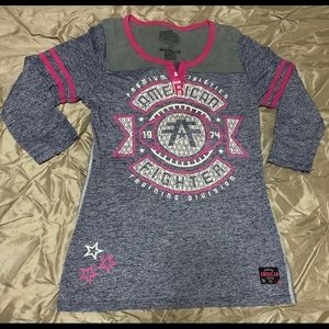 Women's American fighter shirt